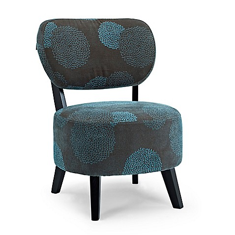 Buy Dwell Home Sphere Accent Chair in Blue Sunflower from