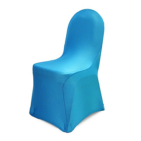 Buy Pizzazz Banquet Chair Cover In Turquoise From Bed Bath