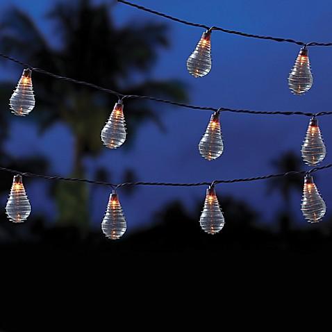 Vintage 10 Bulb String Lights In Clear Bed Bath Amp Beyond