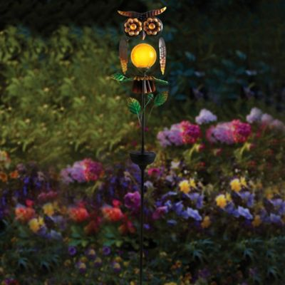 Owl Solar Garden Stake Bed Bath Beyond