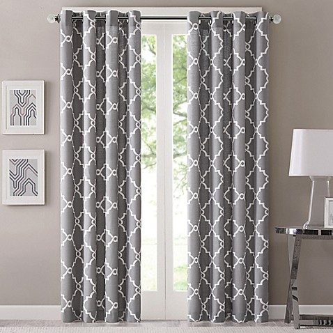 Fretwork Window Curtain Panel - Bed Bath & Beyond