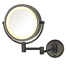 image of Jerdon 8X/1X Lighted Direct Wire Wall Mount Mirror