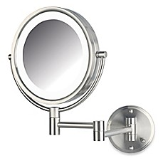 image of Jerdon 8X/1X LED Wall Mount Mirror