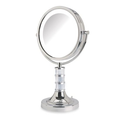 Lighted Vanity Mirror Chrome : Buy Jerdon 8X/1X Steuben Column LED Lighted Vanity Mirror in Chrome from Bed Bath & Beyond
