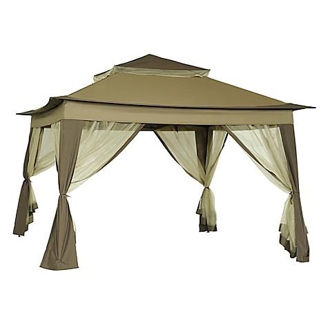 image of 10-Foot x 10-Foot Quick Set Up Folding Gazebo - Patio Gazebos, Outdoor Canopies & Earth Anchor Kits - Bed Bath