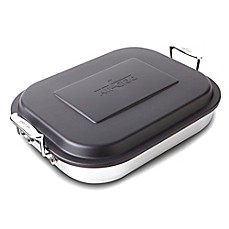 image of All-Clad Stainless Steel Covered Lasagna Pan