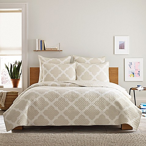Real Simple 174 Bennett Pillow Sham In Taupe Ivory Bed Bath