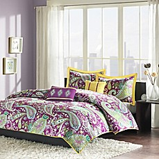 image of Melissa Reversible Duvet Cover Set in Purple
