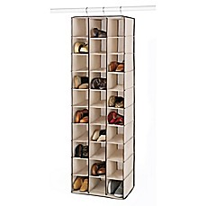 Image Of Whitmor 30 Section Hanging Shoe Shelves In Beige