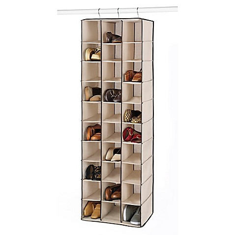 Buy Whitmor 30 Section Hanging Shoe Shelves In Beige From