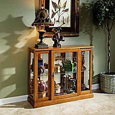 image of Pulaski Golden Mirrored Console Chest in Brown