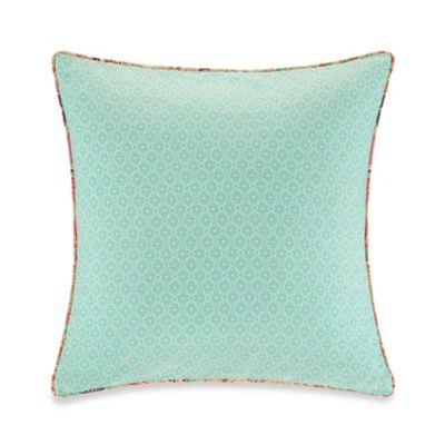 Echo Design Throw Pillows : Echo Design Guinevere Square Throw Pillow in Mint - Bed Bath & Beyond