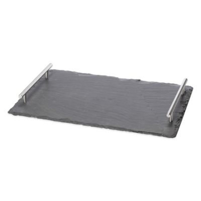 image of Oenophilia Large Slate Cheese Board with Handles