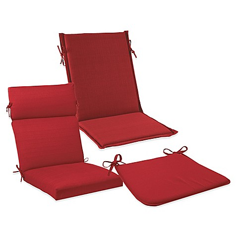 Solid Outdoor Cushions and Pillows in Red Bed Bath & Beyond