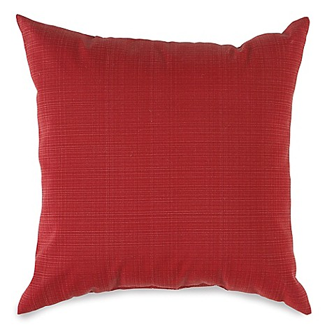 17-Inch Outdoor Square Throw Pillow in Red - Bed Bath & Beyond