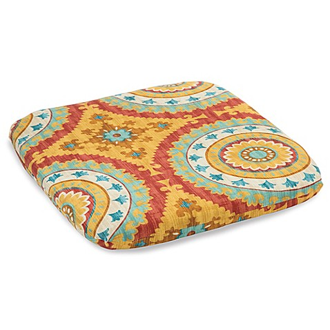 Outdoor chair cushion in sunset red bed bath beyond for Bed bath beyond gel seat cushion