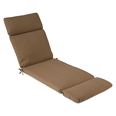 Buy outdoor chaise cushion in camel from bed bath beyond for Chaise cushion clearance
