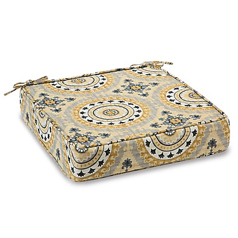 Outdoor Deep Seating Cushion With Ties In Sunset Yellow