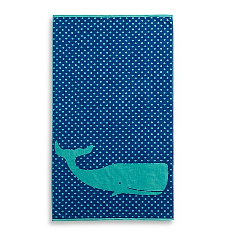 Superbe Whale Jacquard Beach Towel