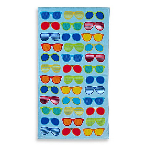 Sunglasses print beach towel bed bath beyond for A bathroom item that starts with p