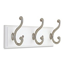 image of Liberty® Contempo Pilltop Hook Rail in White/Nickel