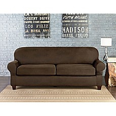 image of Sure Fit® Vintage Faux Leather Inidual Cushion 2-Seat Sofa Slipcover  sc 1 st  Bed Bath u0026 Beyond : slipcovers for reclining sofas - islam-shia.org