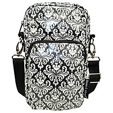 image of Diapees & Wipees® Laminated Hipster Bag in Chic Damask