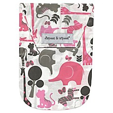 image of Diapees & Wipees Laminated Storage Bag with Wipes Case in Safari Pink