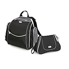 image of Chicco® Urban Backpack & Dash Diaper Bag in Black