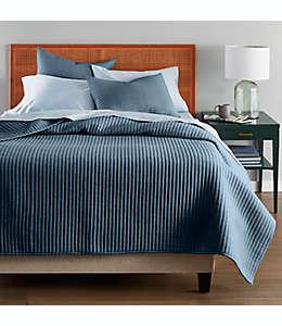 Set de colcha king de algodón Nestwell™ a rayas color azul media noche