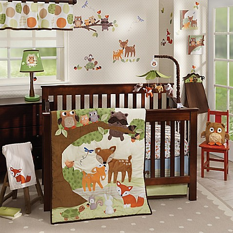 image of Lambs & Ivy Woodland Tales Crib Bedding Collection
