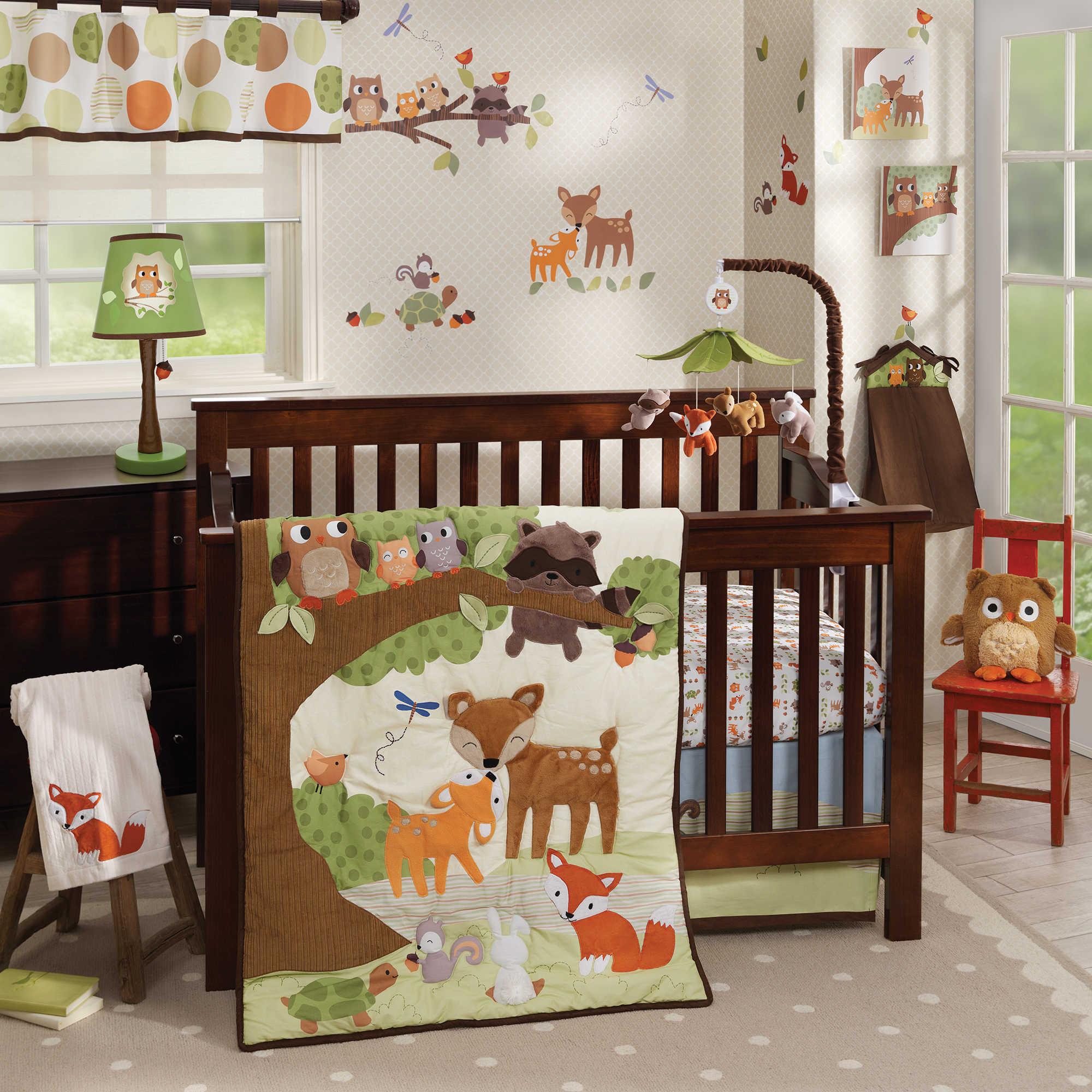 Baby cribs buy buy baby - Lambs Ivy Reg Woodland Tales Crib Bedding Collection