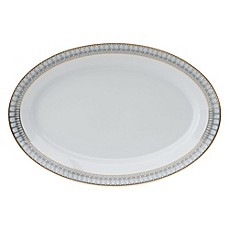 image of Philippe Deshoulieres Arcades Oval Platter in Grey