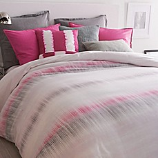 image of dkny frequency duvet cover in fuchsia