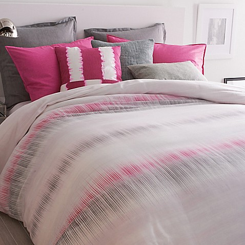 Dkny Frequency Duvet Cover In Fuchsia Bed Bath Amp Beyond
