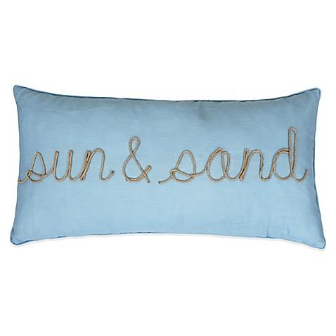 Sun & Sand Oblong Throw Pillow in Spa Blue - Bed Bath & Beyond