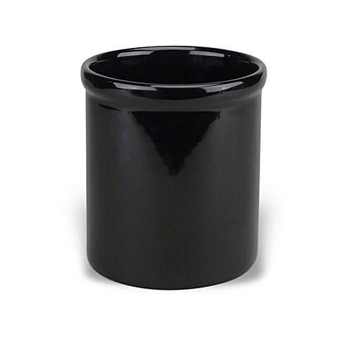 Black Ceramic Kitchen Utensil Holder