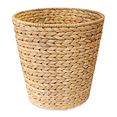 image of Brookside Natural Water Hyacinth Guest Round Wastebasket