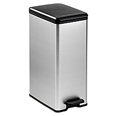 image of Curver 40-Liter Slim Metallic Trash Can