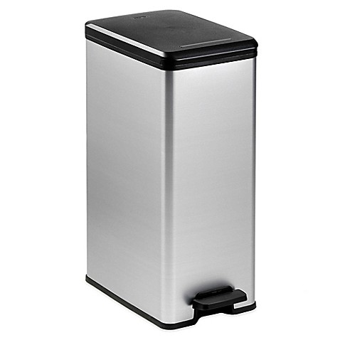 Etonnant Curver 40 Liter Slim Metallic Trash Can