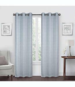 Cortinas de poliéster con filtro de luz Simply Essential™ Benton de 2.13 m color azul/gris