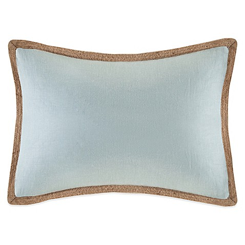 Buy Linen Oblong Throw Pillow in Blue from Bed Bath & Beyond