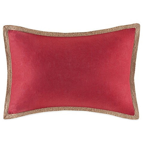 Buy Linen Oblong Throw Pillow in Red from Bed Bath & Beyond