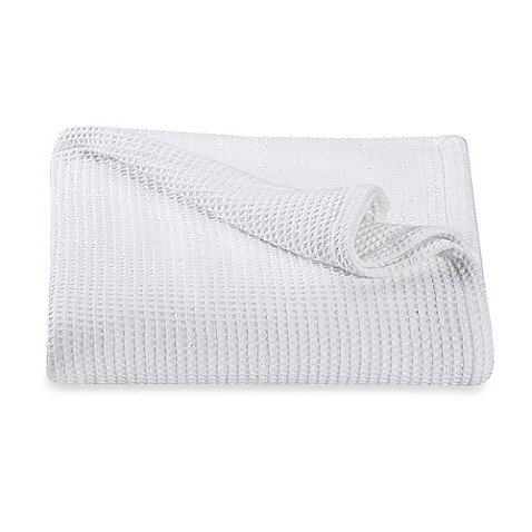 Kenneth Cole Reaction Home Waffle King Blanket in White