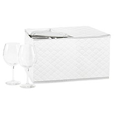 image of SALT Quilted Stemware Saver in White