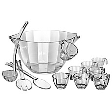 image of Prodyne Acrylic 12-Piece Punch and Salad Bowl Combo Set