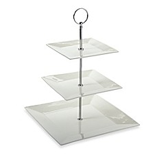image of Maxwell & Williams™ White Basics Cosmopolitan 3-Tier Cake Stand