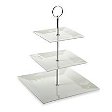 image of maxwell u0026 williams white basics 3tier cake stand