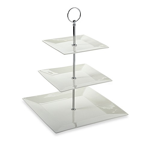 Maxwell \u0026 Williams\u0026trade; White Basics Cosmopolitan 3-Tier Cake Stand  sc 1 st  Bed Bath \u0026 Beyond & Maxwell \u0026 Williams™ White Basics Cosmopolitan 3-Tier Cake Stand ...