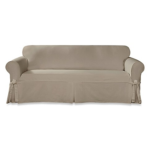 Sure Fit 174 Designer Twill Sofa Slipcover Bed Bath Amp Beyond